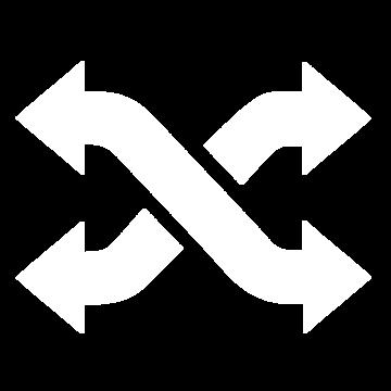 Weißes Icon mit zwei Pfeilen