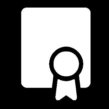 Weißes Icon mit einer Auszeichnung